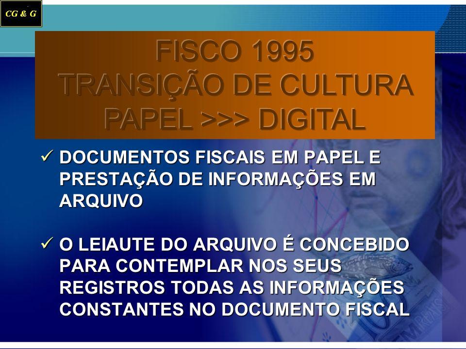 FISCO 1995 TRANSIÇÃO DE CULTURA PAPEL >>> DIGITAL