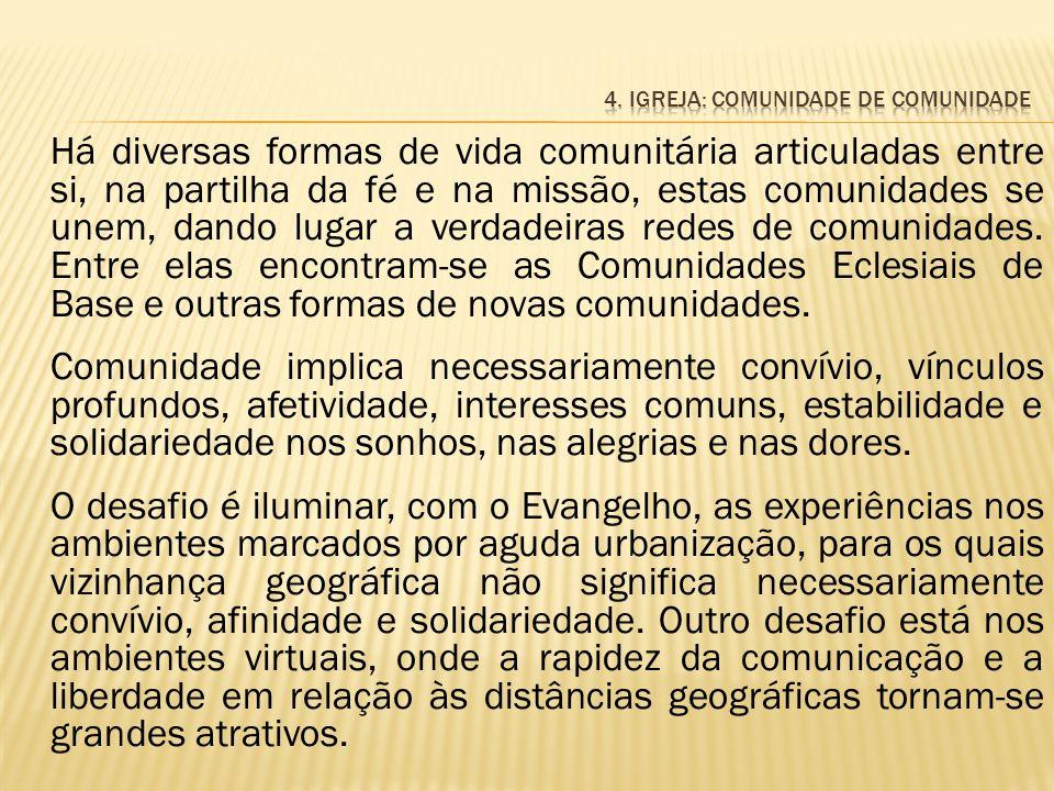 4. Igreja: comunidade de comunidade