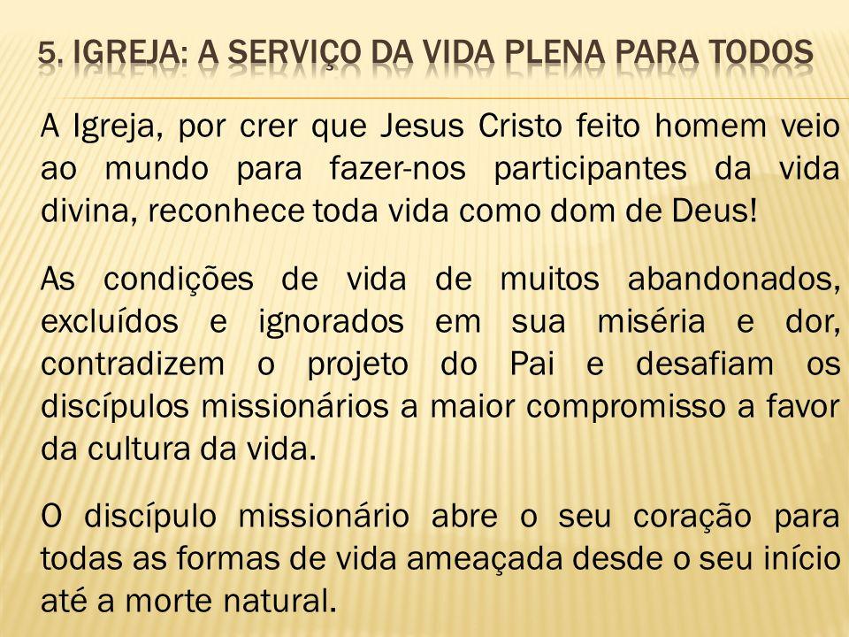5. Igreja: a serviço da vida plena para todos