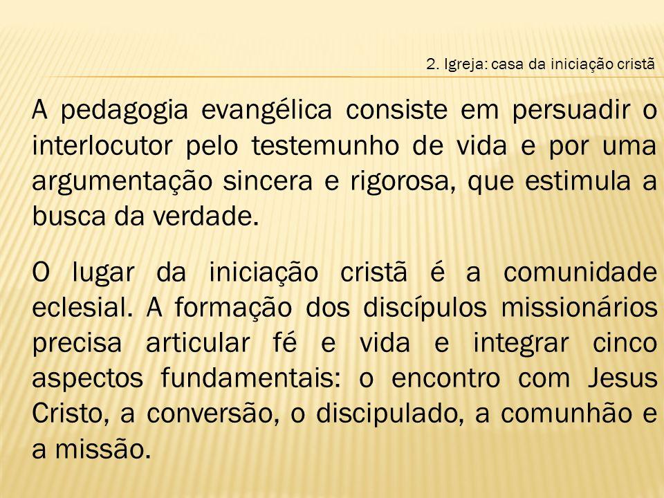 2. Igreja: casa da iniciação cristã