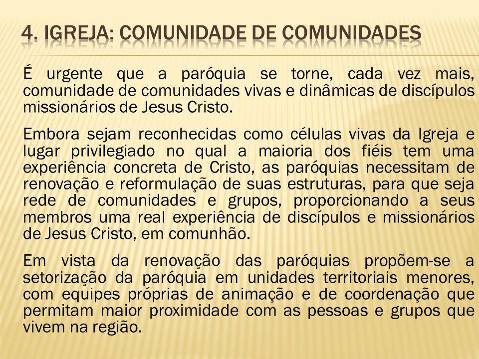 4. Igreja: comunidade de comunidades