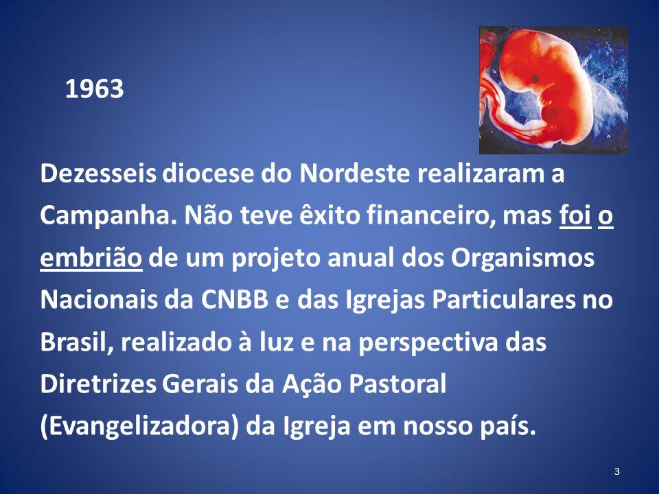 1963 Dezesseis diocese do Nordeste realizaram a Campanha
