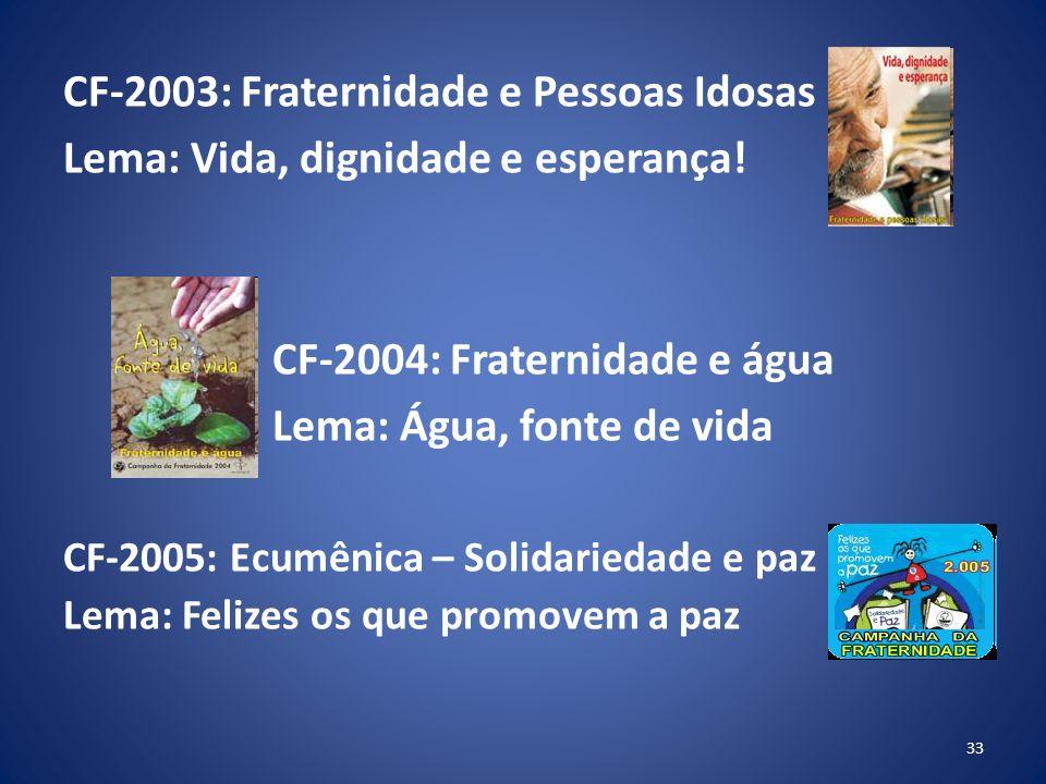 CF-2003: Fraternidade e Pessoas Idosas
