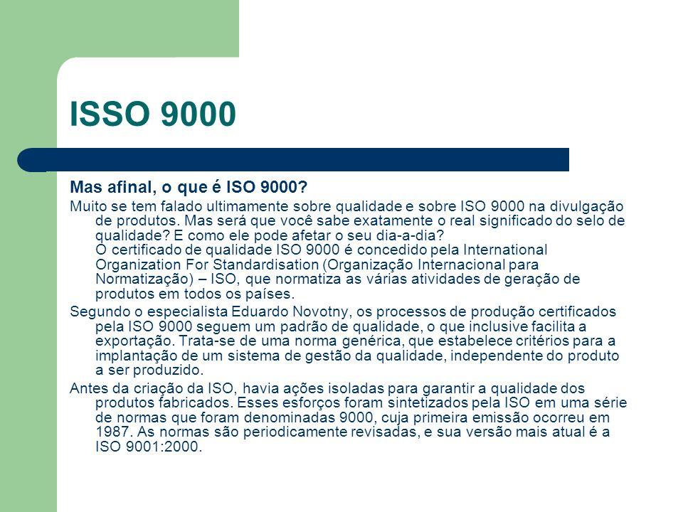 ISSO 9000 Mas afinal, o que é ISO 9000