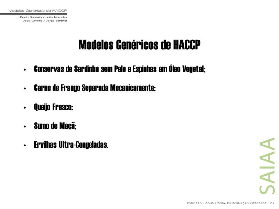 Modelos Genéricos de HACCP