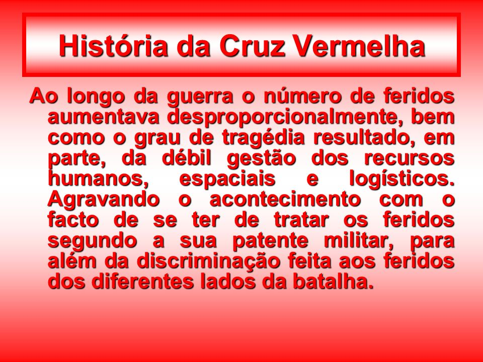 História da Cruz Vermelha