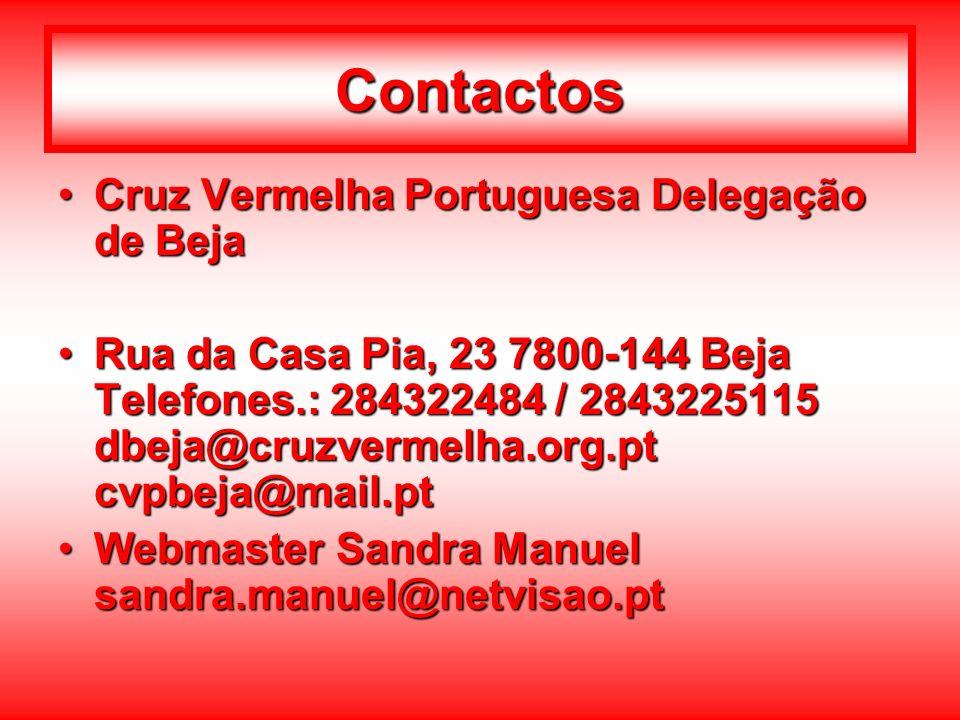 Contactos Cruz Vermelha Portuguesa Delegação de Beja