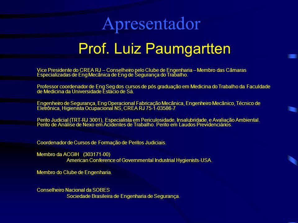 Apresentador Prof. Luiz Paumgartten