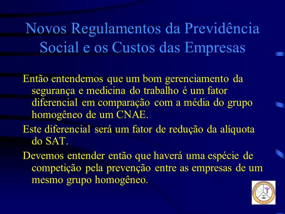Novos Regulamentos da Previdência Social e os Custos das Empresas