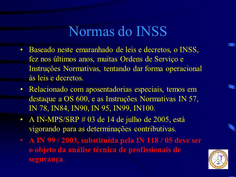 Normas do INSS