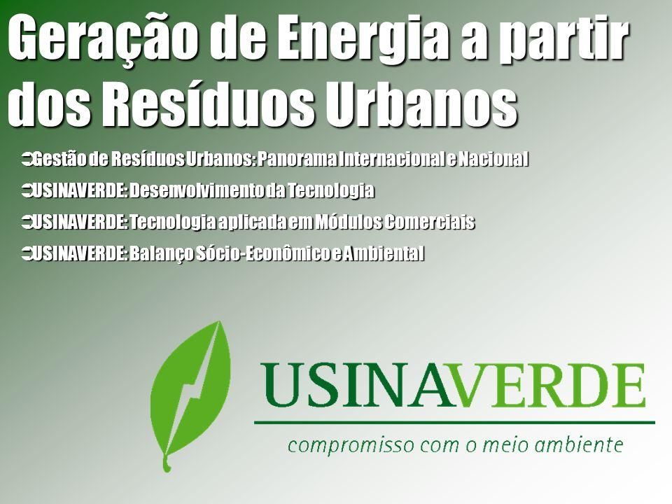 Geração de Energia a partir dos Resíduos Urbanos