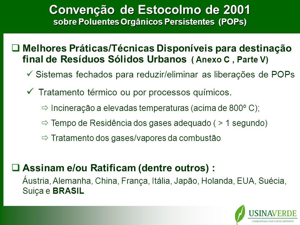 Convenção de Estocolmo de 2001 sobre Poluentes Orgânicos Persistentes (POPs)