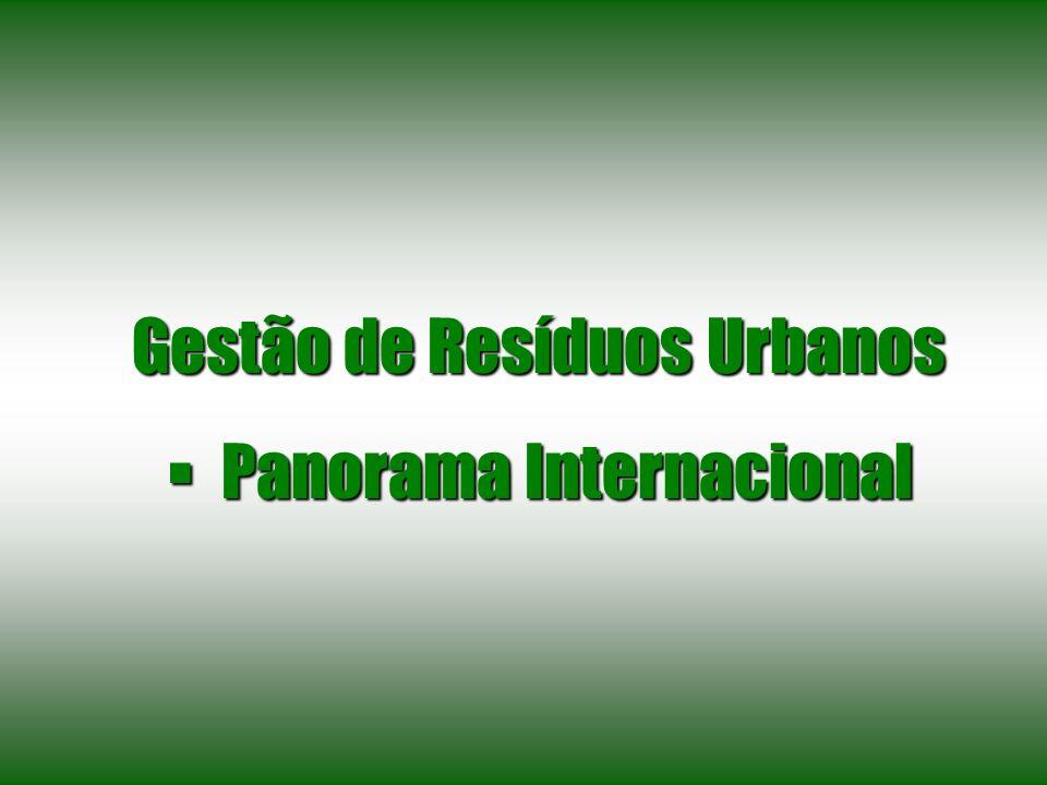 Gestão de Resíduos Urbanos Panorama Internacional