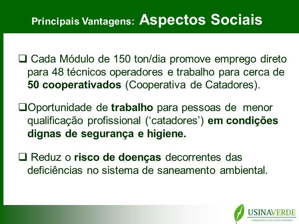 Principais Vantagens: Aspectos Sociais