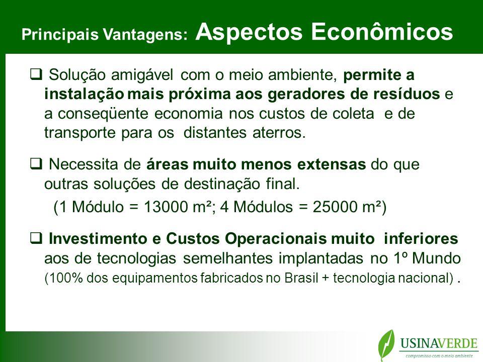 Principais Vantagens: Aspectos Econômicos