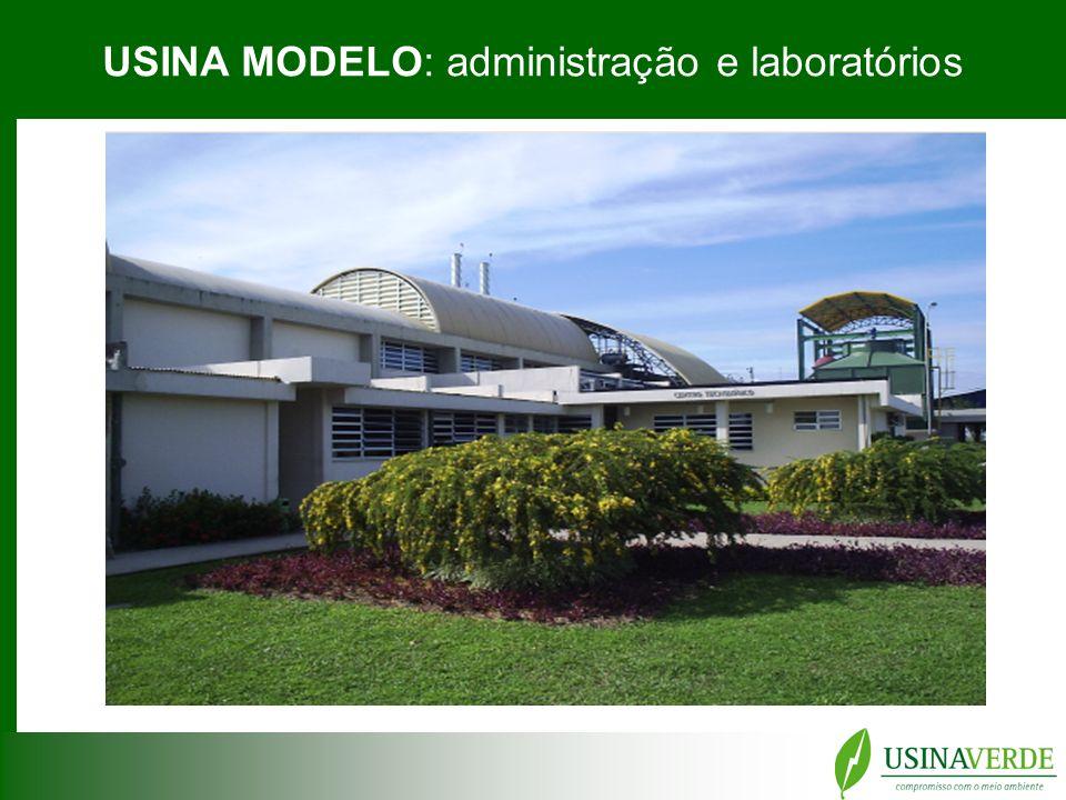 USINA MODELO: administração e laboratórios