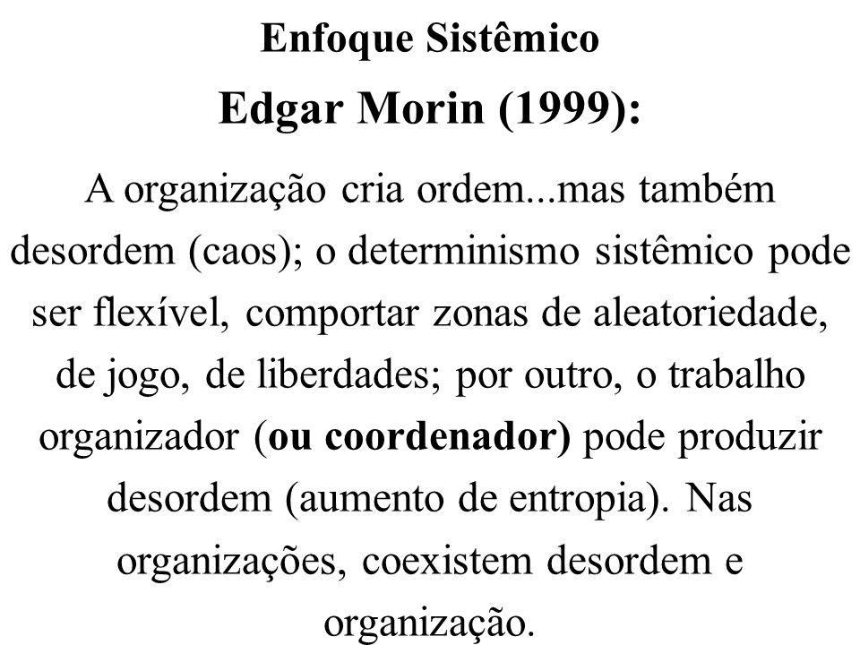 Edgar Morin (1999): Enfoque Sistêmico