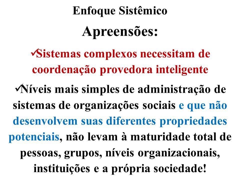 Sistemas complexos necessitam de coordenação provedora inteligente