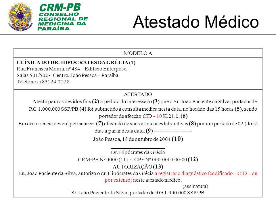 Atestado Médico MODELO A CLÍNICA DO DR. HIPOCRATES DA GRÉCIA (1)