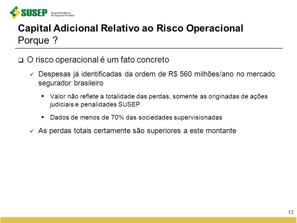 Capital Adicional Relativo ao Risco Operacional Porque