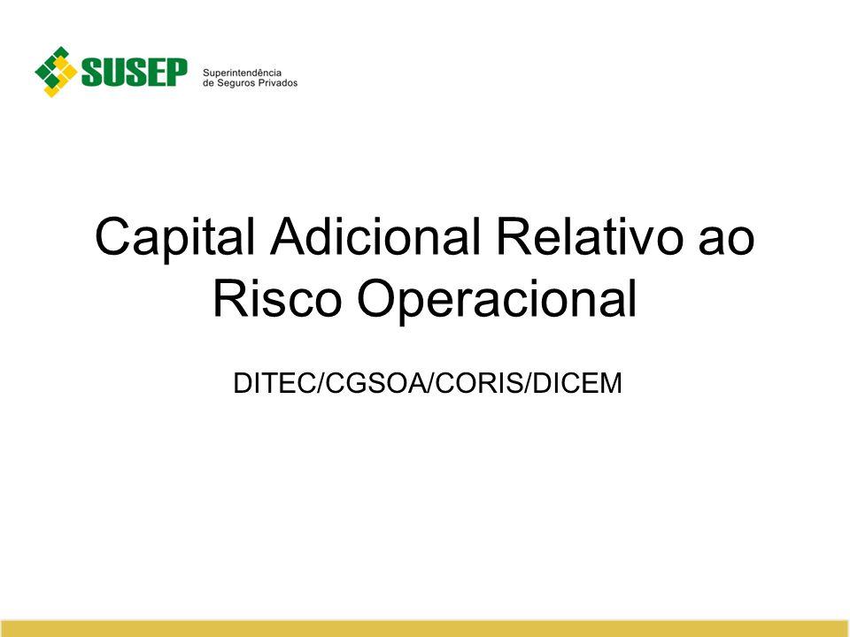 Capital Adicional Relativo ao Risco Operacional