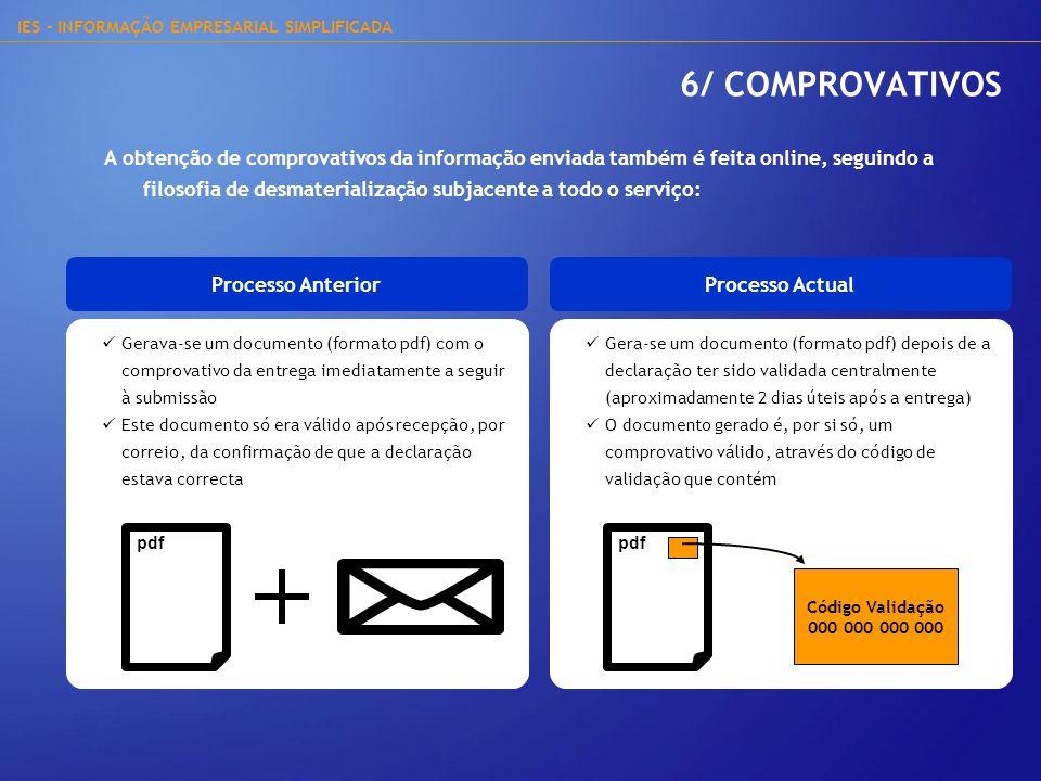 6/ COMPROVATIVOS
