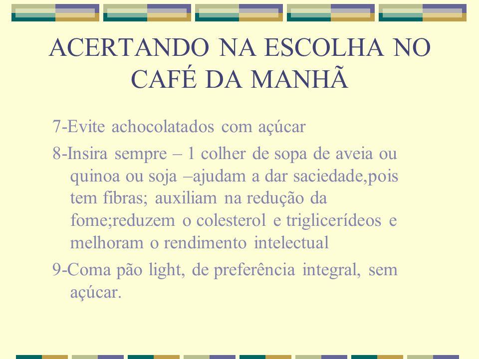 ACERTANDO NA ESCOLHA NO CAFÉ DA MANHÃ