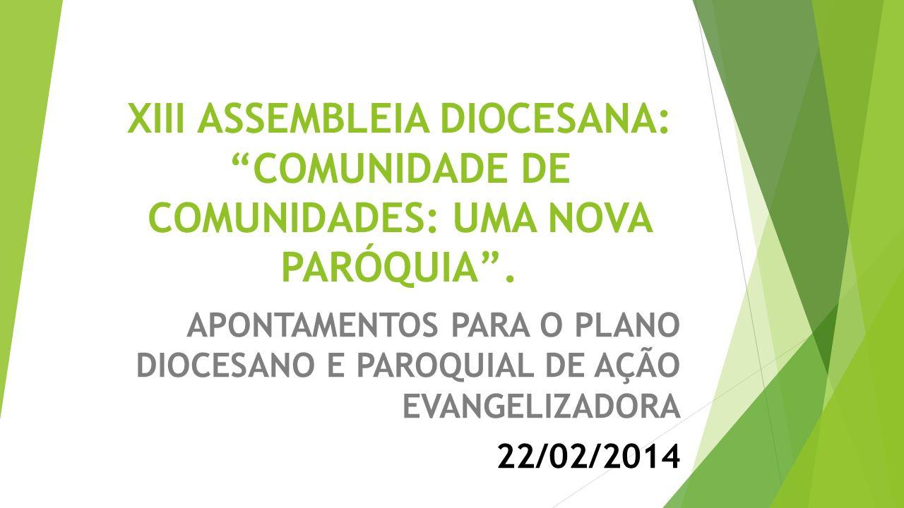 APONTAMENTOS PARA O PLANO DIOCESANO E PAROQUIAL DE AÇÃO EVANGELIZADORA