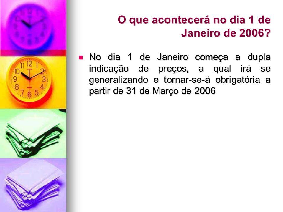 O que acontecerá no dia 1 de Janeiro de 2006