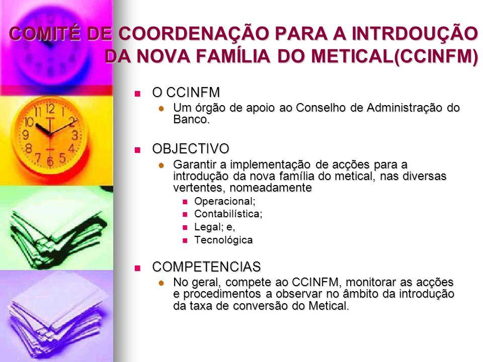 COMITÉ DE COORDENAÇÃO PARA A INTRDOUÇÃO DA NOVA FAMÍLIA DO METICAL(CCINFM)
