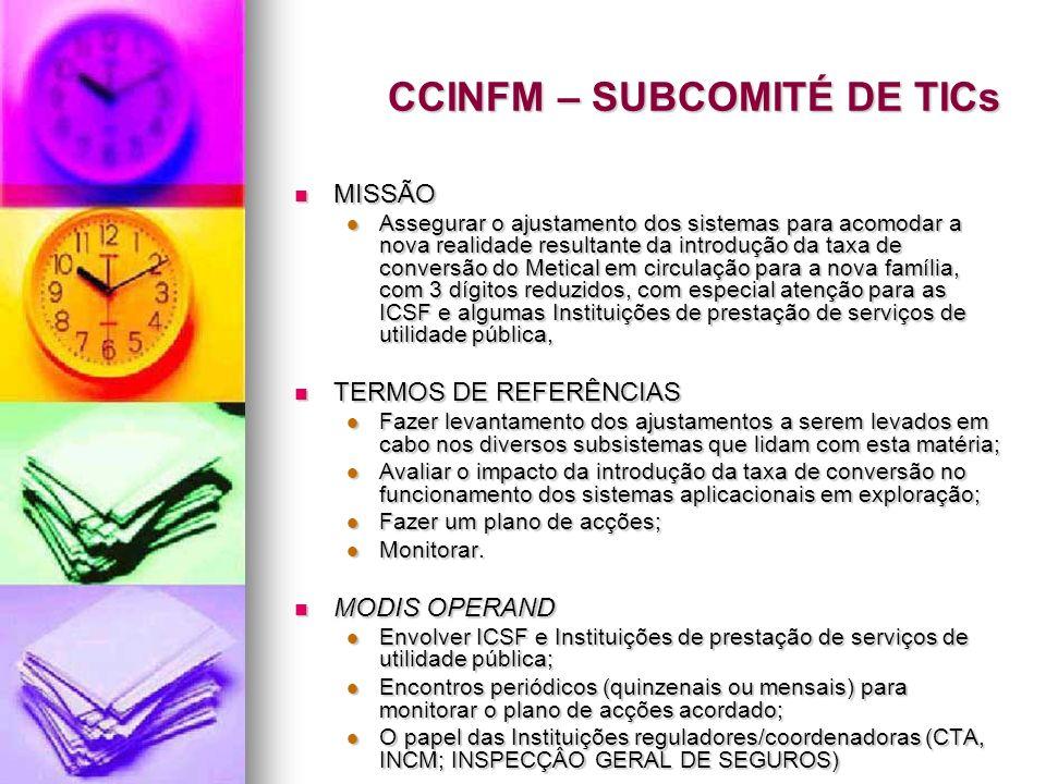 CCINFM – SUBCOMITÉ DE TICs