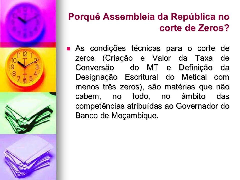Porquê Assembleia da República no corte de Zeros
