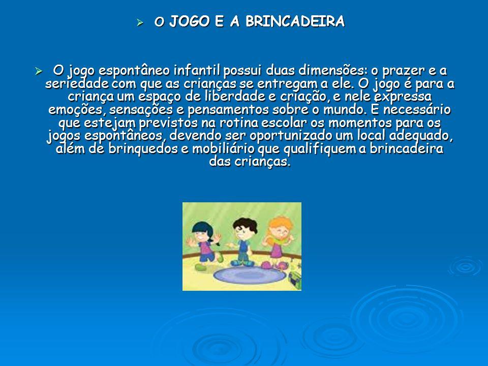 O JOGO E A BRINCADEIRA