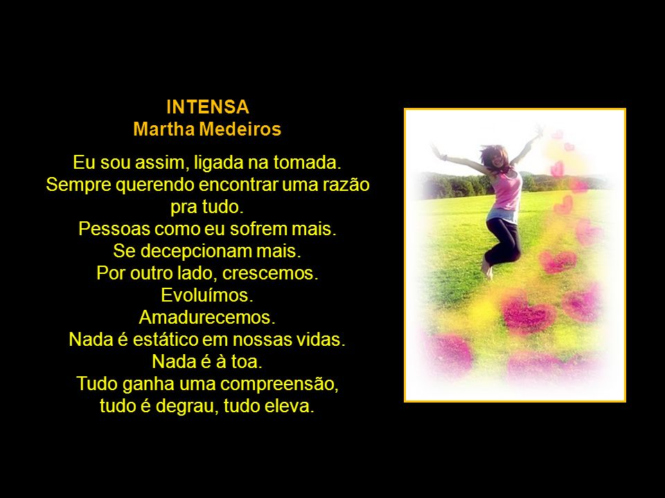 INTENSA Martha Medeiros