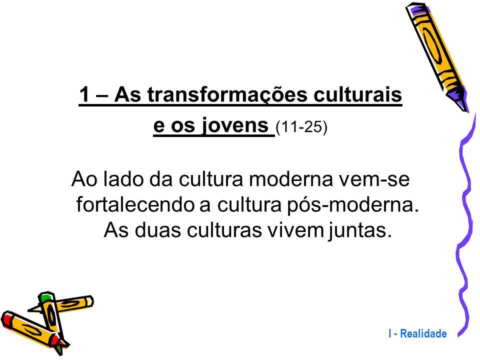 1 – As transformações culturais