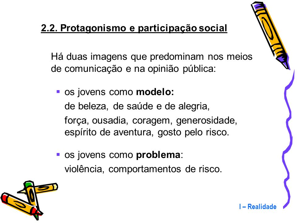 2.2. Protagonismo e participação social