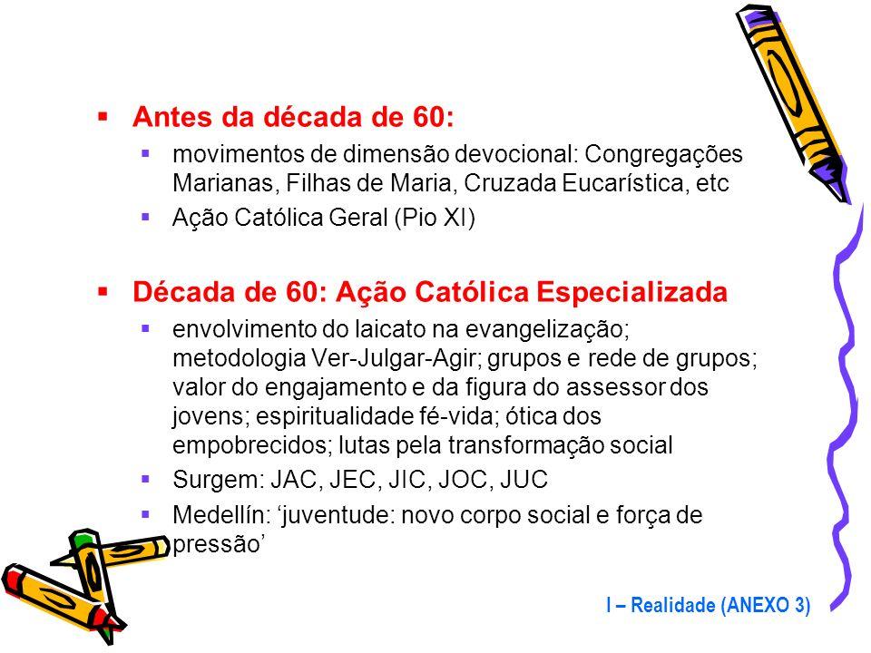 Década de 60: Ação Católica Especializada