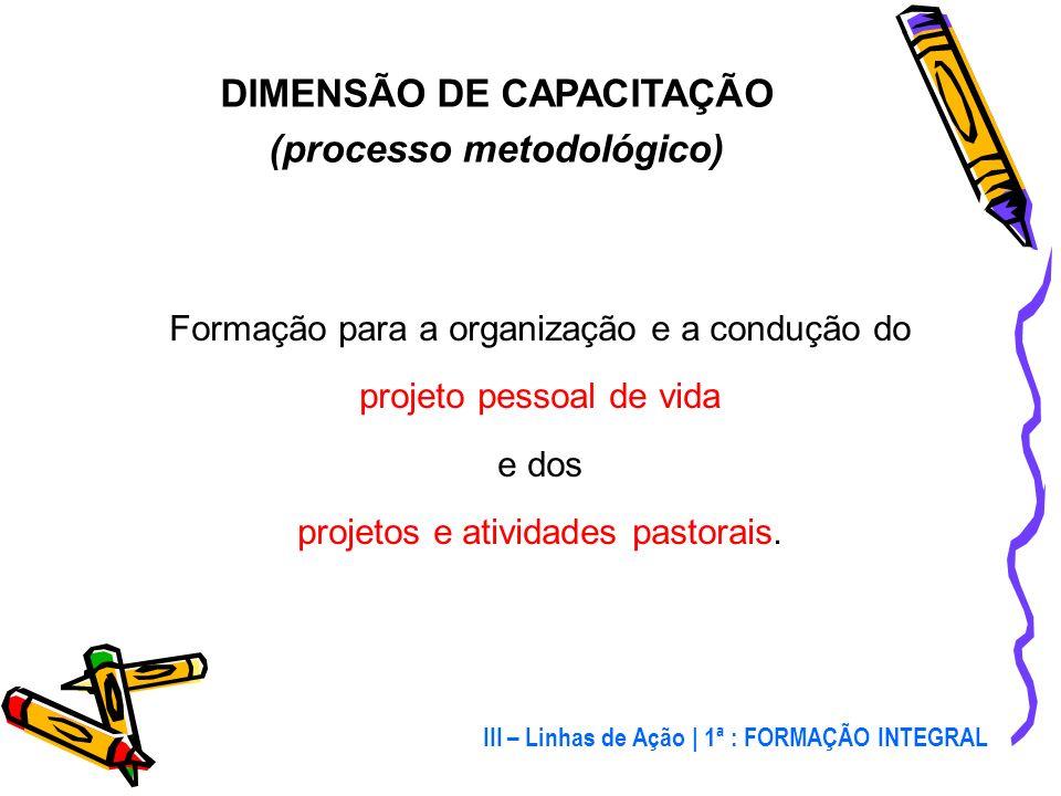 DIMENSÃO DE CAPACITAÇÃO (processo metodológico)