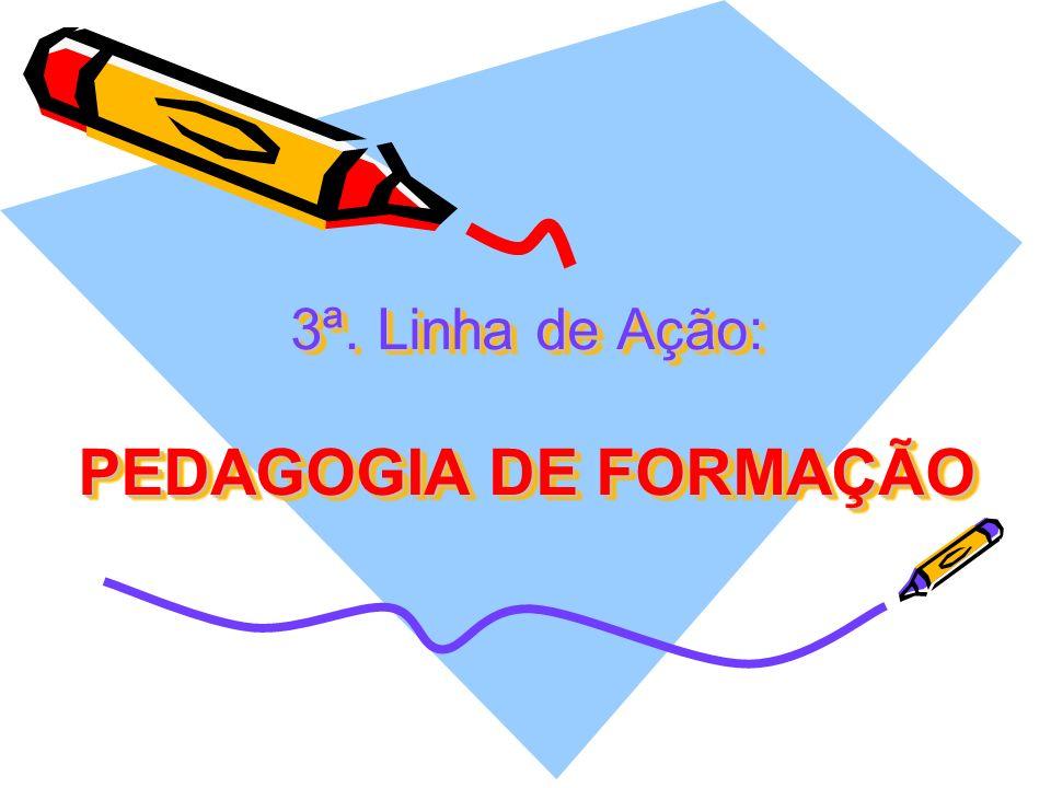 3ª. Linha de Ação: PEDAGOGIA DE FORMAÇÃO