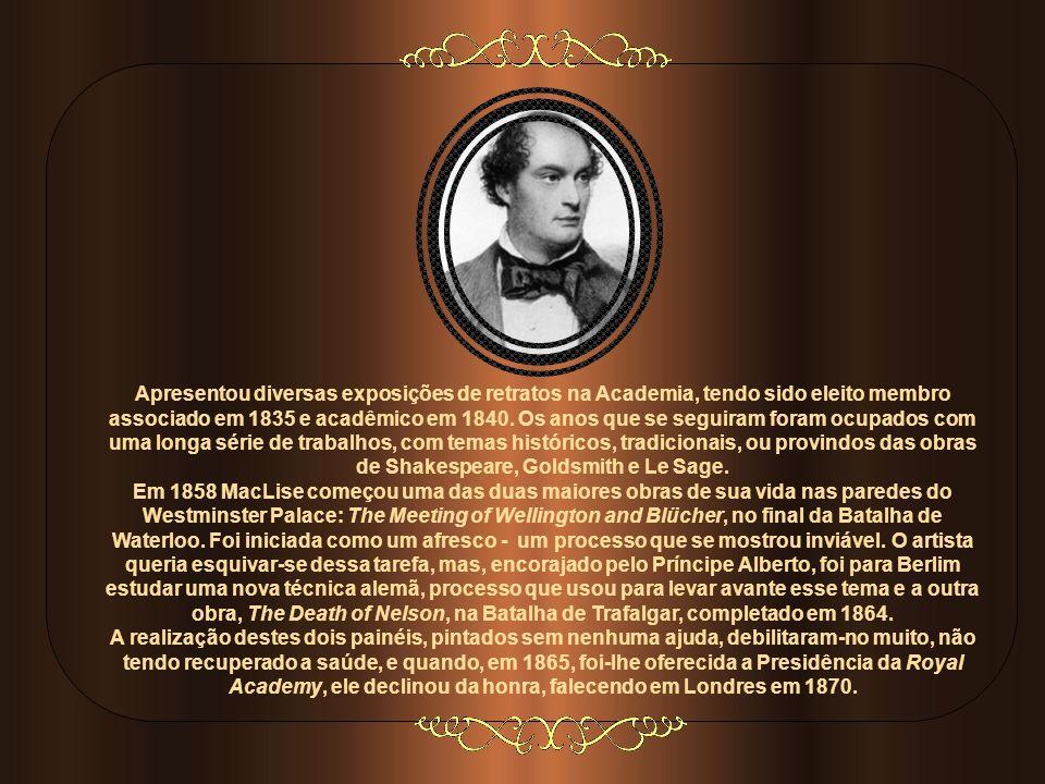 Apresentou diversas exposições de retratos na Academia, tendo sido eleito membro associado em 1835 e acadêmico em 1840. Os anos que se seguiram foram ocupados com uma longa série de trabalhos, com temas históricos, tradicionais, ou provindos das obras de Shakespeare, Goldsmith e Le Sage.