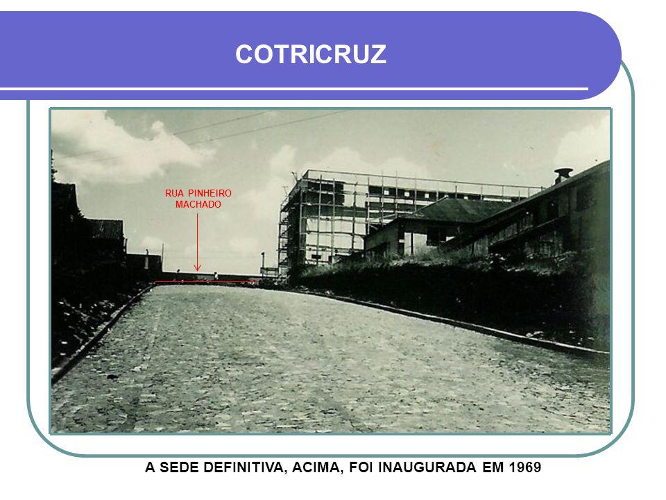 A SEDE DEFINITIVA, ACIMA, FOI INAUGURADA EM 1969