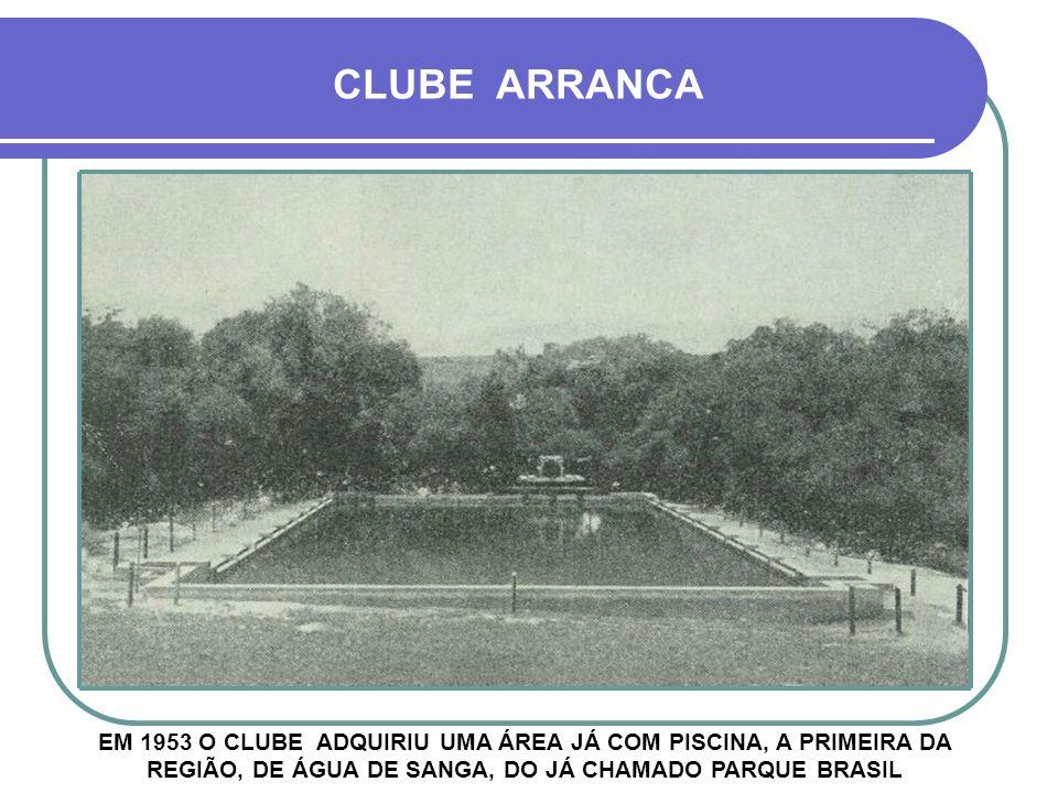 CLUBE ARRANCA EM 1953 O CLUBE ADQUIRIU UMA ÁREA JÁ COM PISCINA, A PRIMEIRA DA REGIÃO, DE ÁGUA DE SANGA, DO JÁ CHAMADO PARQUE BRASIL.