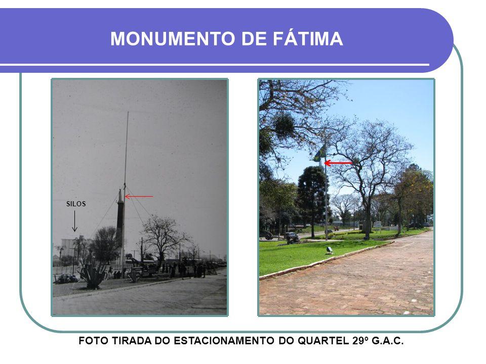 FOTO TIRADA DO ESTACIONAMENTO DO QUARTEL 29º G.A.C.