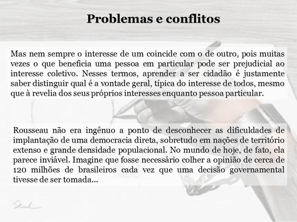 Problemas e conflitos