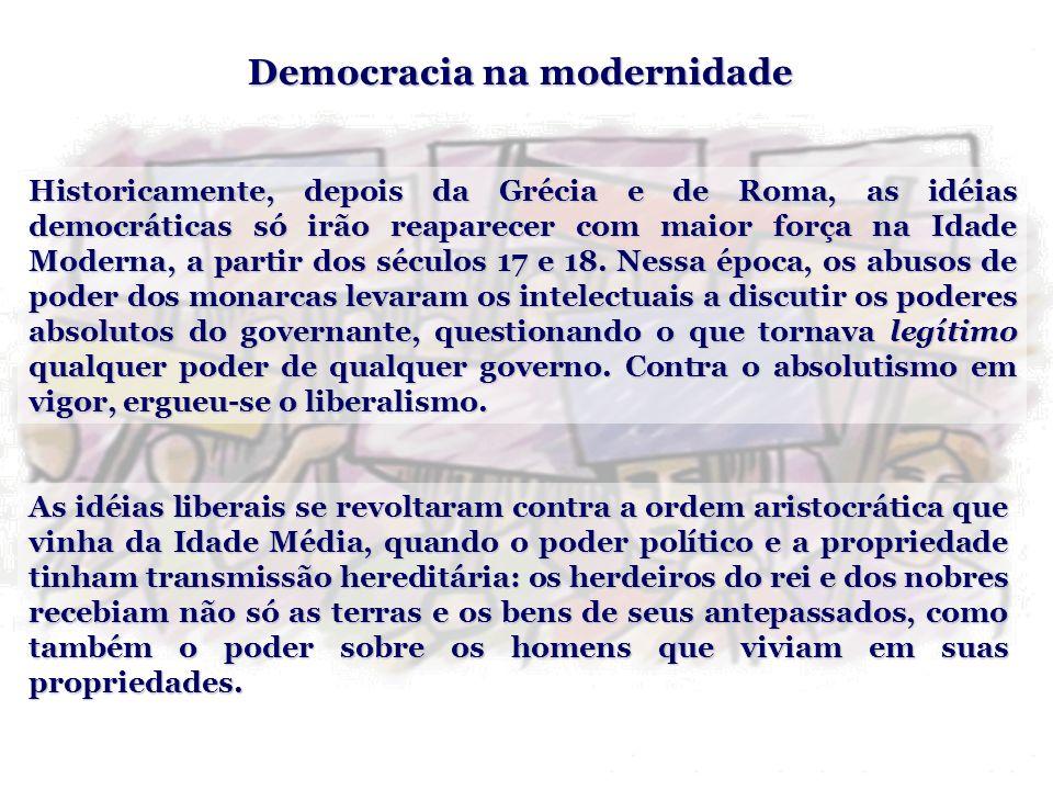 Democracia na modernidade
