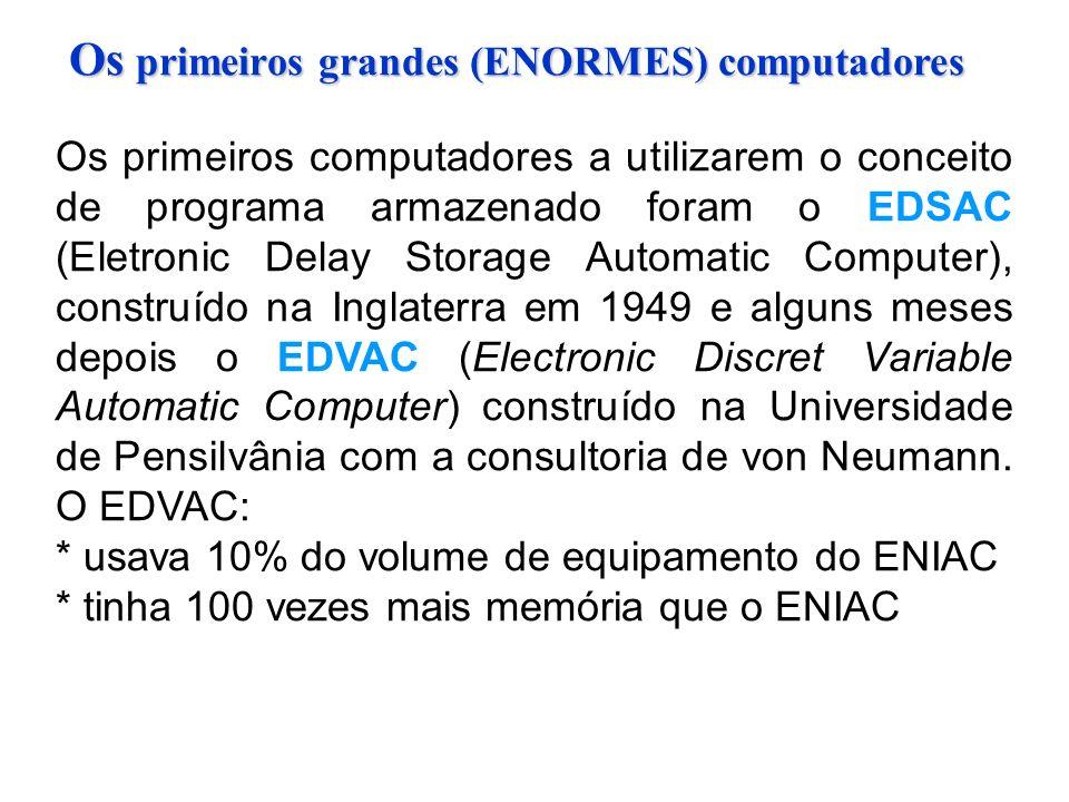 Os primeiros grandes (ENORMES) computadores