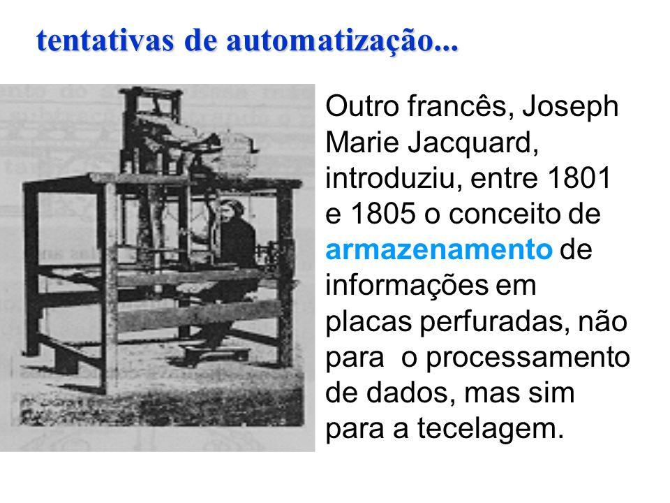 tentativas de automatização...