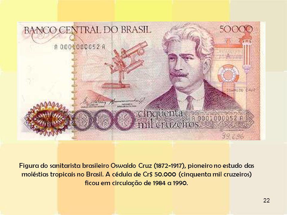 Figura do sanitarista brasileiro Oswaldo Cruz (1872-1917), pioneiro no estudo das moléstias tropicais no Brasil.