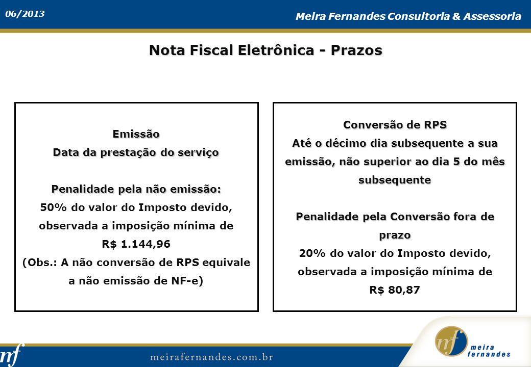 Nota Fiscal Eletrônica - Prazos