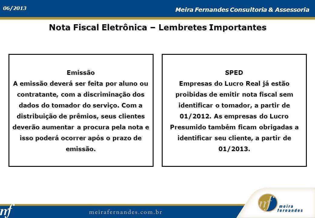 Nota Fiscal Eletrônica – Lembretes Importantes